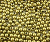 100 Antique Bronze Smooth Round Spacers Beads 4mm Dia. 1 mm hole